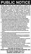 Physiotherapy Public Notice
